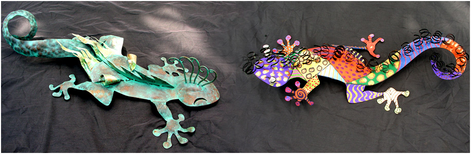 Eight Local Artists Create Geckos for Charity Auction