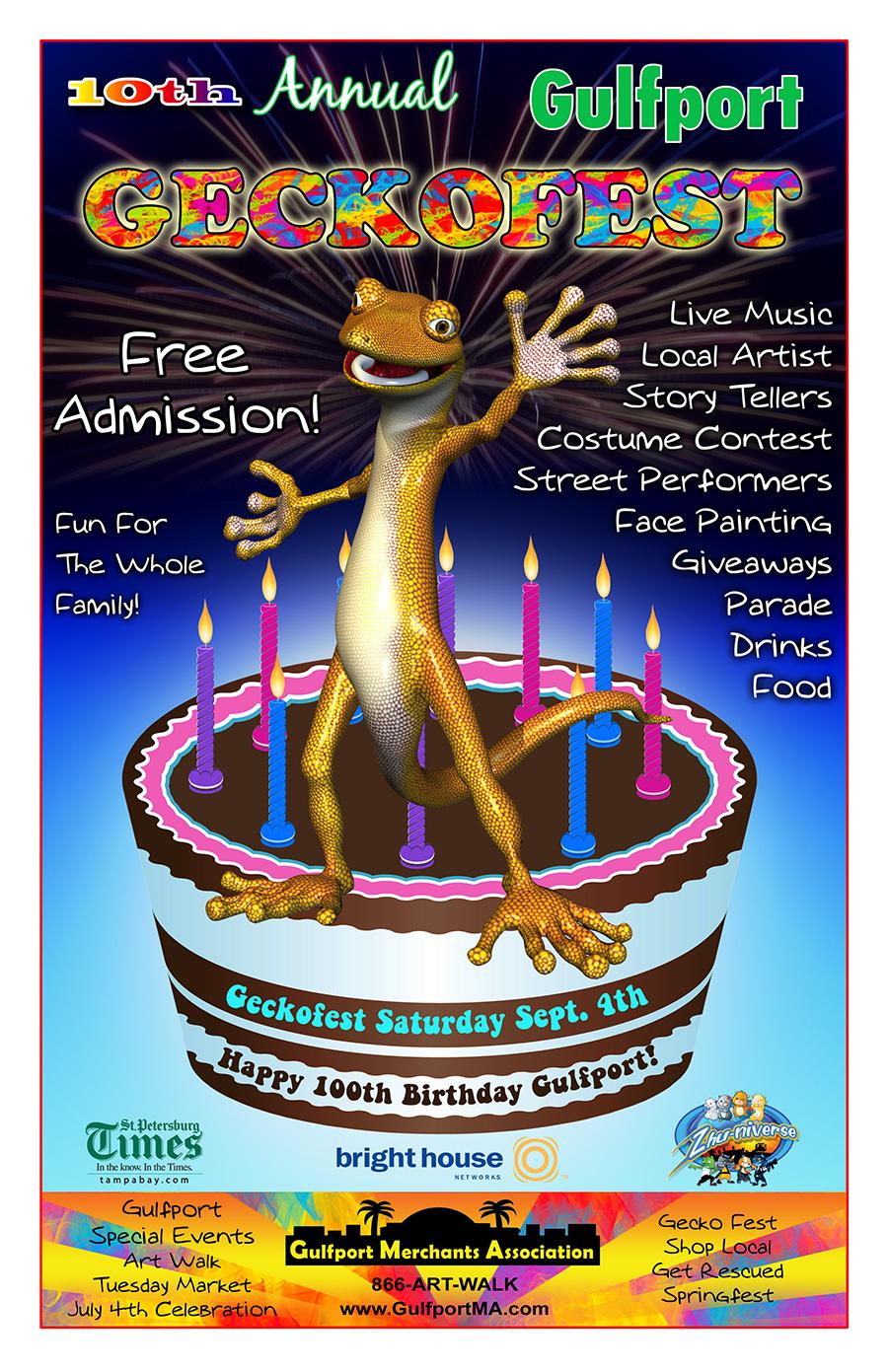 GeckoFest 2010 Flyer