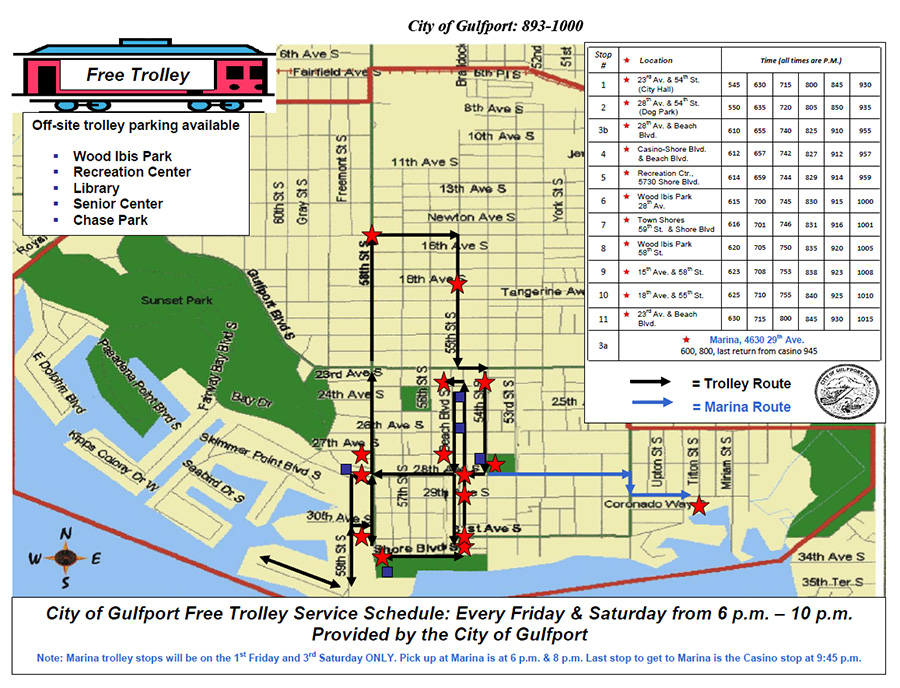 Parking and Trolley Information